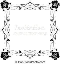 decoratief, lijstjes, vector