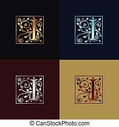 decoratief, logo, brief