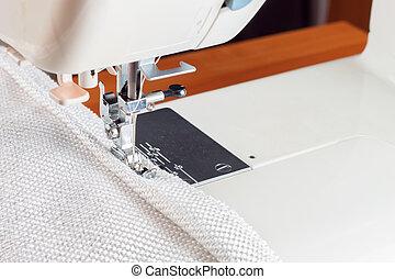 decoratief, machine, naaiwerk, rand, cord.