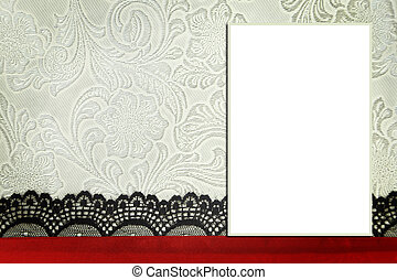 decoratief, mal, met, foto, frame., plakboek, photobook,...