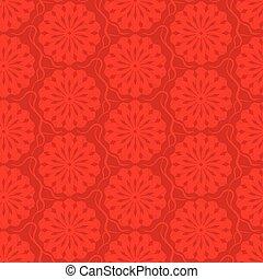 decoratief, model, seamless, achtergrond., vector, rood