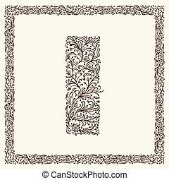 decoratief, ontwerp, jouw, brief
