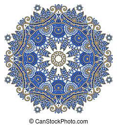 decoratief, ornament, cirkel, kant, ronde