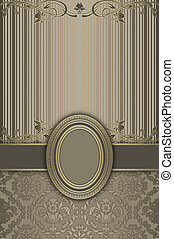 decoratief, ouderwetse , frame., achtergrond
