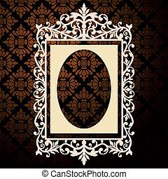 decoratief, ouderwetse , frame