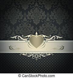 decoratief, ouderwetse , patterns., achtergrond, elegant