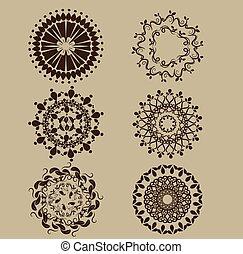 decoratief, ouderwetse , set, communie, vector