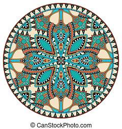 decoratief, patte, ronde, ontwerp, schaaltje, geometrisch, cirkel, mal