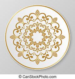 decoratief, plaat., goud