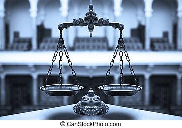 decoratief, schalen van gerechtigheid