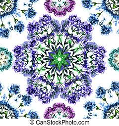 decoratief, stylized, model, seamless, watercolor, bloemen