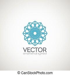 decoratief, symbool, vector