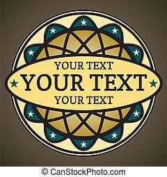decoratief, tekst, plek, jouw, etiket