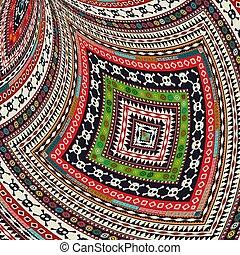 decoratief, van een stam, ontwerp, 2