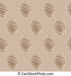decoratief, wallpaper., vector, luxe