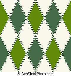 decoratieve knippatroon, rhombuses