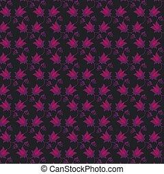 decoratieve knippatroon, seamless, vector, zwarte achtergrond, floral