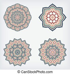 decoratieve knippatroon, set, circulaire