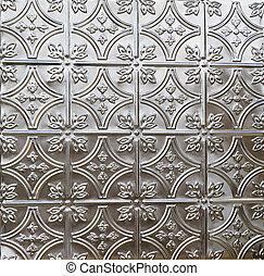 decoratieve tegel, tin, plafond