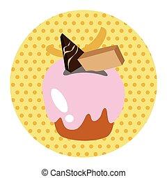 decorating cake theme elements