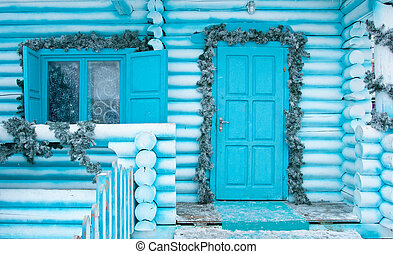 Decorating Door and window for the Christmas Holidays