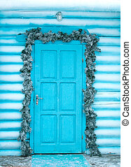 Decorating Door for the Christmas Holidays