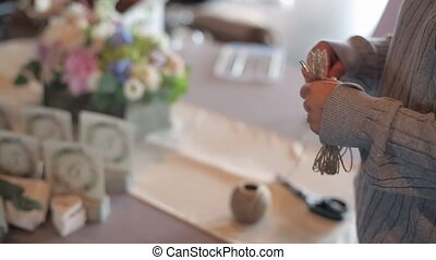 Decorating for wedding