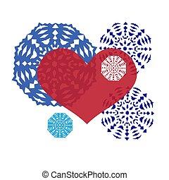 decoration., γίνομαι , ημέρα , αμπαλάρισμα , μπορώ , αγάπη , πρόσκληση , μεταχειρισμένος , βαλεντίνη , snowflakes., διακοσμητικός , έκθεση