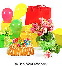 decoration., γραφικός , ευτυχισμένος , πάρτυ , birthday!