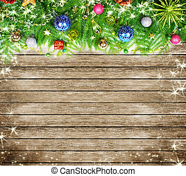 decoration., arbre, noël