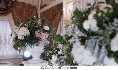 Decoration at wedding ceremony indoors