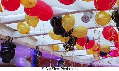 Decoration balloons hall