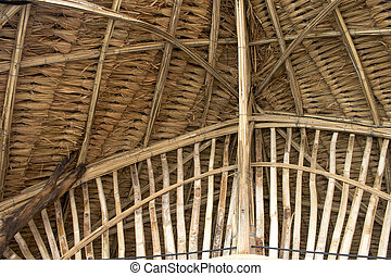 Decoration bamboo structure