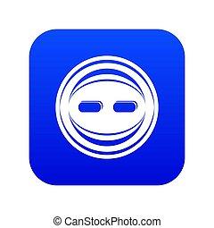 Decoration button icon blue