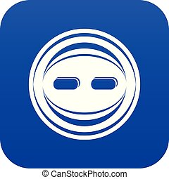 Decoration button icon blue vector