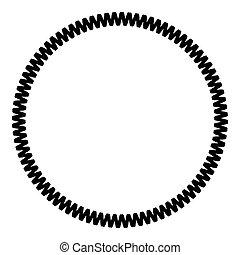Decoration circle Decorative line Art frame icon black color vector illustration flat style image