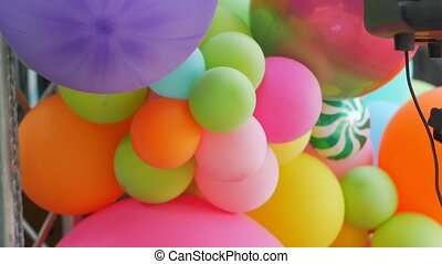 Decoration color balloons outdoors party