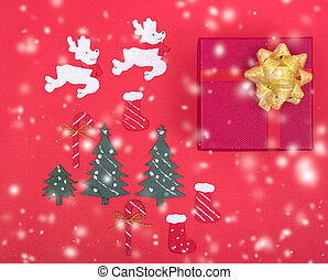 Decoration design in christmas holiday
