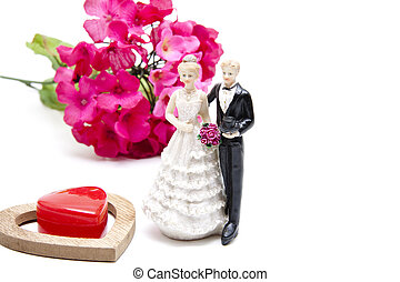 Decoration Flower with Bridal pair