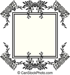 Decoration flowers and leaf, unique various cards. Vector