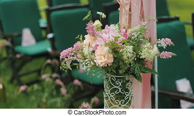 Decoration Flowers on wedding
