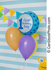 decoration for childrens birthday balloons cake