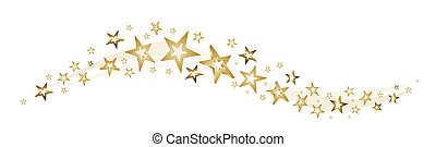 decoration for christmas with stars and stardust