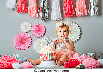 decoration for first birthday smash the cake