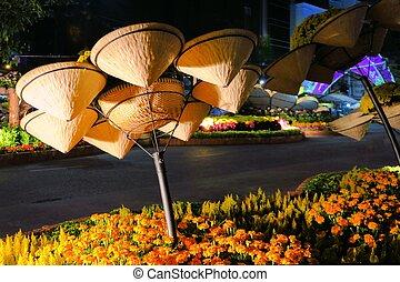Decoration for TET Vietnamese new year celebration in Saigon, Vietnam