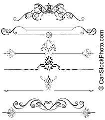 a few decorations for the pages, drawn in a classical style.
