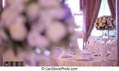 Decoration for wedding party in palace