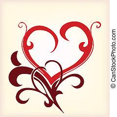 Decoration heart. Vector