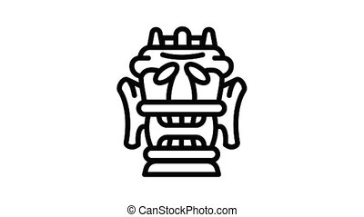 Decoration idol icon animation outline best object on white background