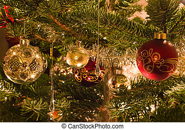 Decoration in christmas tree